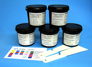 Victory Factory plastisol textile ink kit