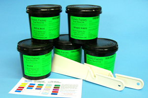 Victory Factory water-based textile ink kit